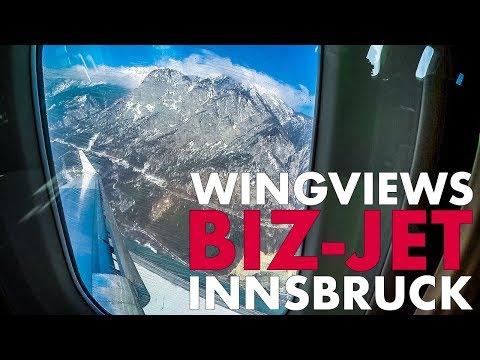 BizJet Takeoff & Climb over the Alps