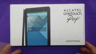 Alcatel Pop 7 Tablet  Unboxing For Metro Pcs