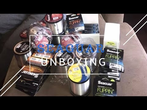 """My 1st """"Unboxing"""" Seaguar fishing lines"""