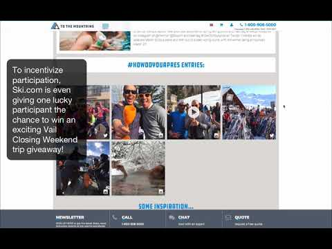 Ski.com Celebrates Aprés-Skiing Using Hashtag Photo Contest To Inspire Authentic UGC