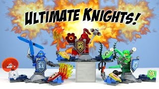 LEGO Nexo Knights Ultimate Clay Macy & Aaron Minifigure Sets Opening Building