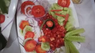 decoration of salad
