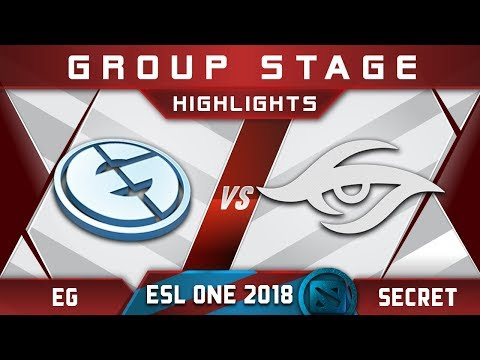 EG vs Secret ESL One Hamburg 2018 Highlights Dota 2