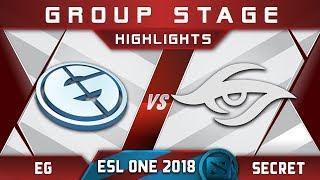EG vs Secret ESL One Hamburg 2018 Highlights Dota 2