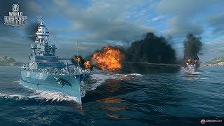 World of Warships  Ночной заход.8