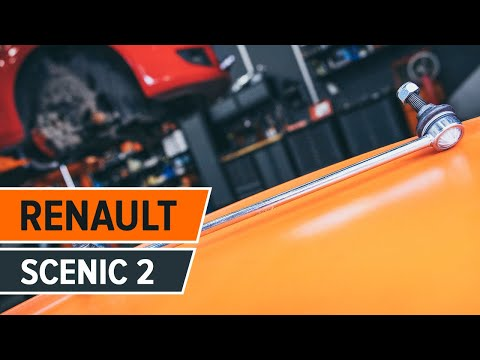 How to replace Front Anti Roll Bar Link on RENAULT SCÉNIC 2 TUTORIAL | AUTODOC