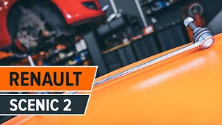 rear and front Stabiliser link installation RENAULT SCÉNIC: video manual