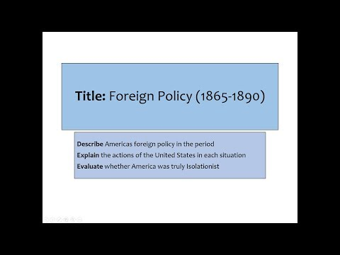 Foreign Policy 1865-1890: AQA History