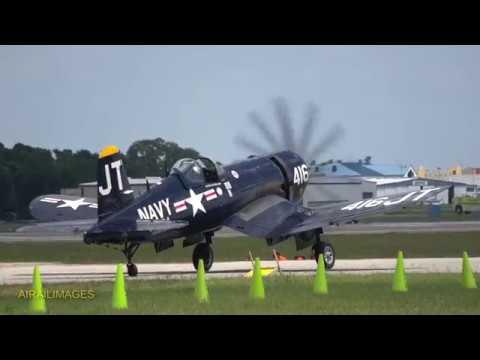 F4U Corsair and F/A-18 Super Hornet Legacy Formation at SUN 'n FUN