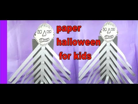 how to make paper Halloween or ghost for kids | easy DIY paper tutorial