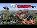 Minecraft KFC restaurant part 1 Tutorial