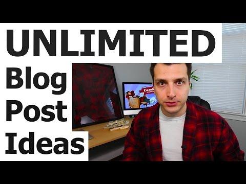 UNLIMITED Blog Post Ideas