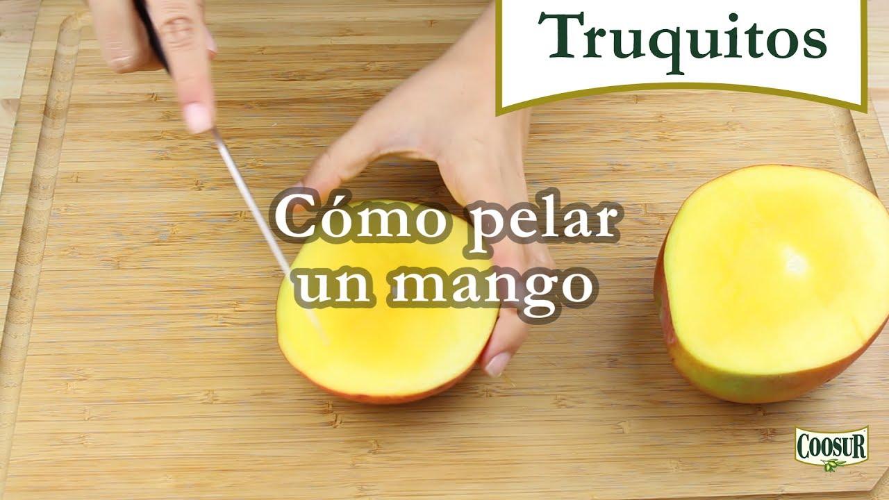 como pelar un mango