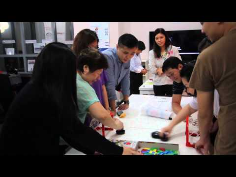 Fun games at the brain gym - Wellbeing Innovation Lab by ASPIRE55