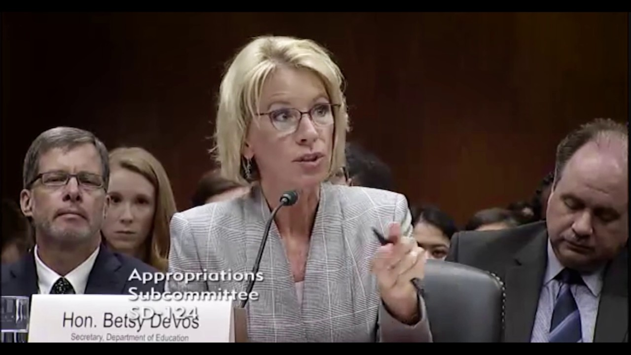 Betsy DeVos Defends Slashing Funds for the Special Olympics