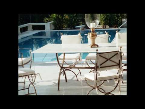 Metal Poolside Furniture wholesale  Greece Iron Poolside Furniture wholesale  Greece Wrought