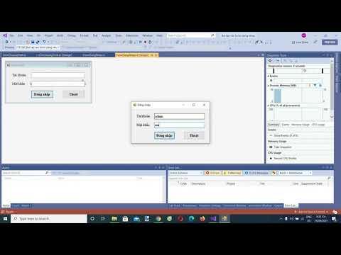 Bài tập C# Winform - Tạo chức năng đăng nhập, đăng xuất