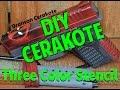 Deadpool Cerakote Pistol | 3 Color Stencil