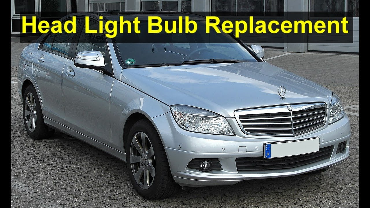 mercedes benz c350 head light bulb replacement, c-class - auto