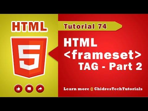 HTML Video Tutorial - 74 - Html Frameset Tag - Part 2