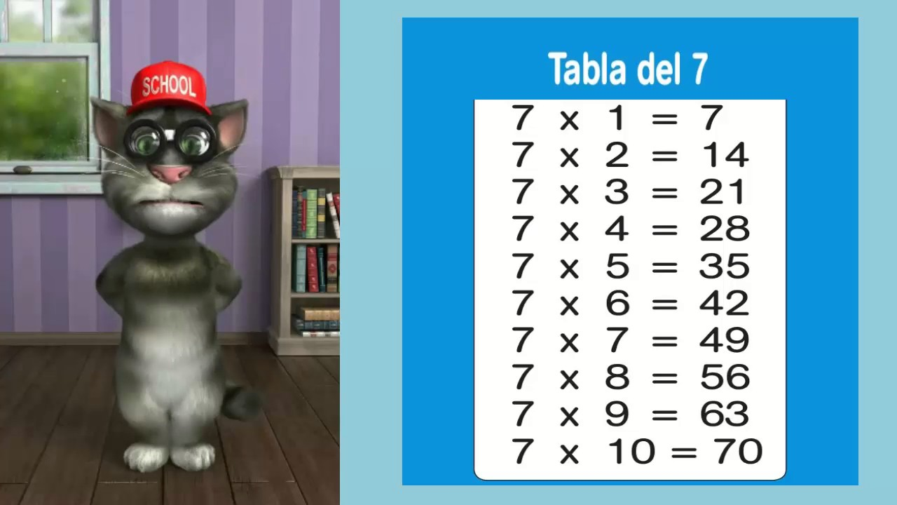 Tabla Del 7 Youtube