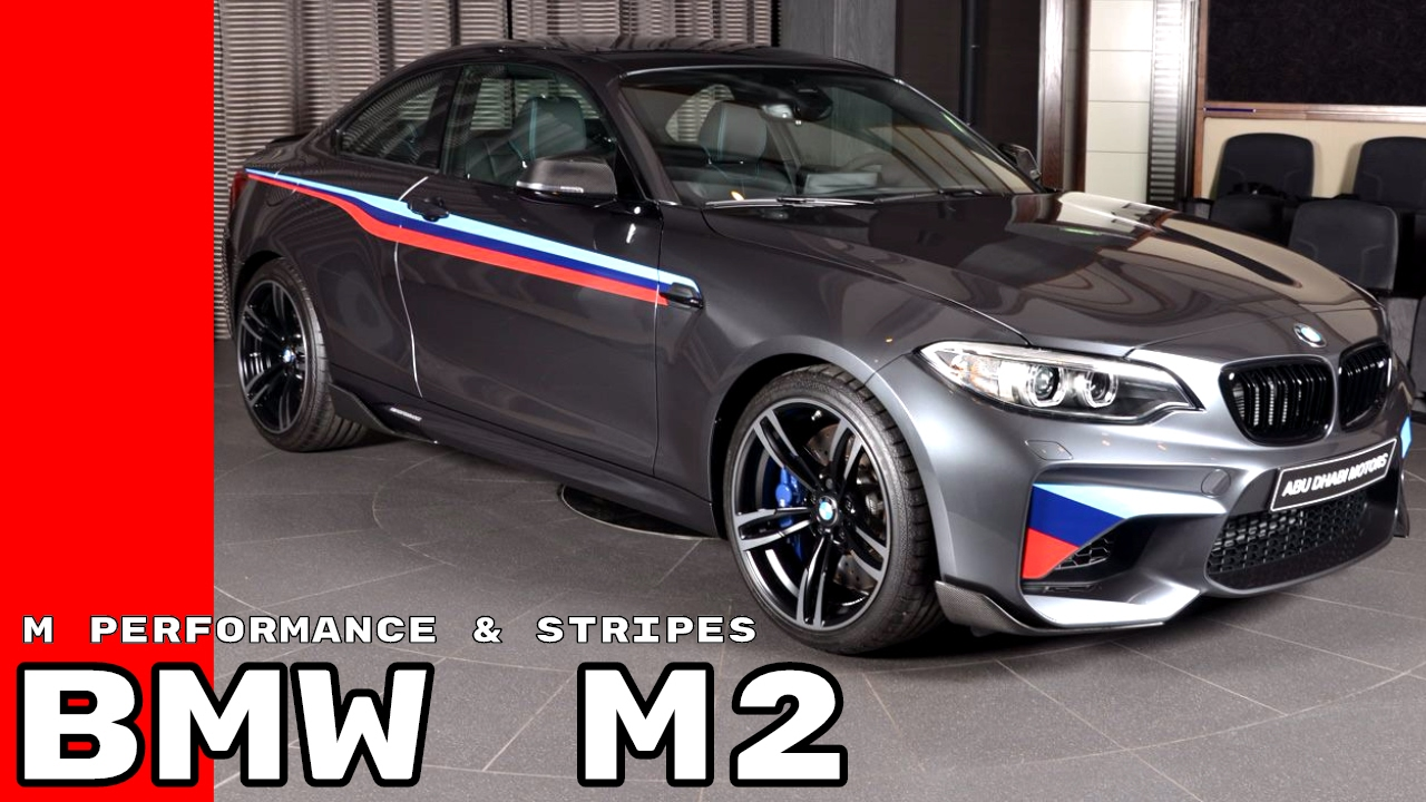 2017 Bmw M2 In Gray With M Performance Parts M Stripes Youtube