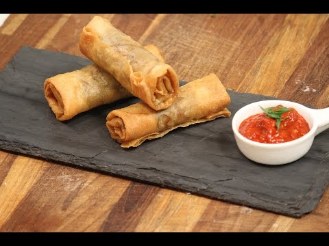 Vegetable Spring Roll And Schezwan Sauce | Majha Kitchen | Sanjeev Kapoor Khazana