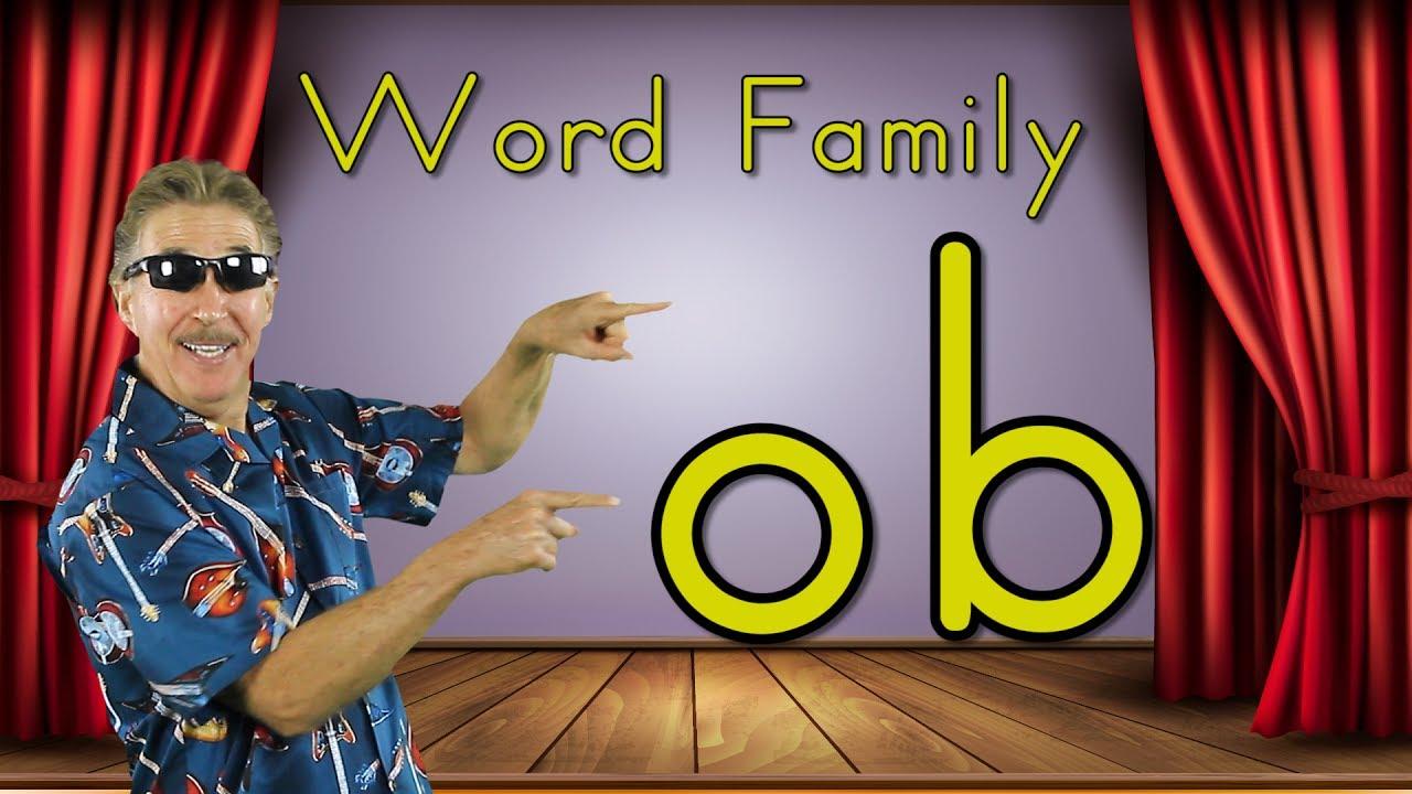 Word Family Ob Phonics Song For Kids Jack Hartmann