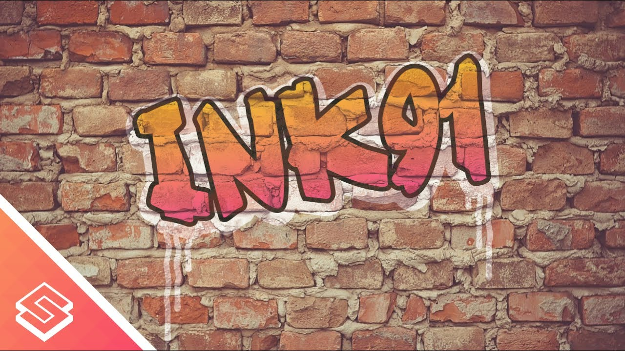 Inkscape For Beginners Graffiti On A Brick Wall