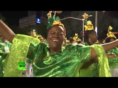 Sambadrome in Rio: Hundreds of people take part in first night of carnival parade