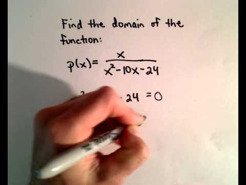 Finding the Domain of a Rational Function / Fraction with Variable in Denominator
