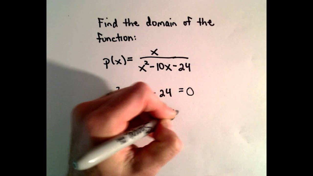 Finding The Domain Of A Rational Function Fraction With Variable