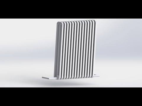 Ansys Fluent Tutorial - Simulation Of  A Household Radiator