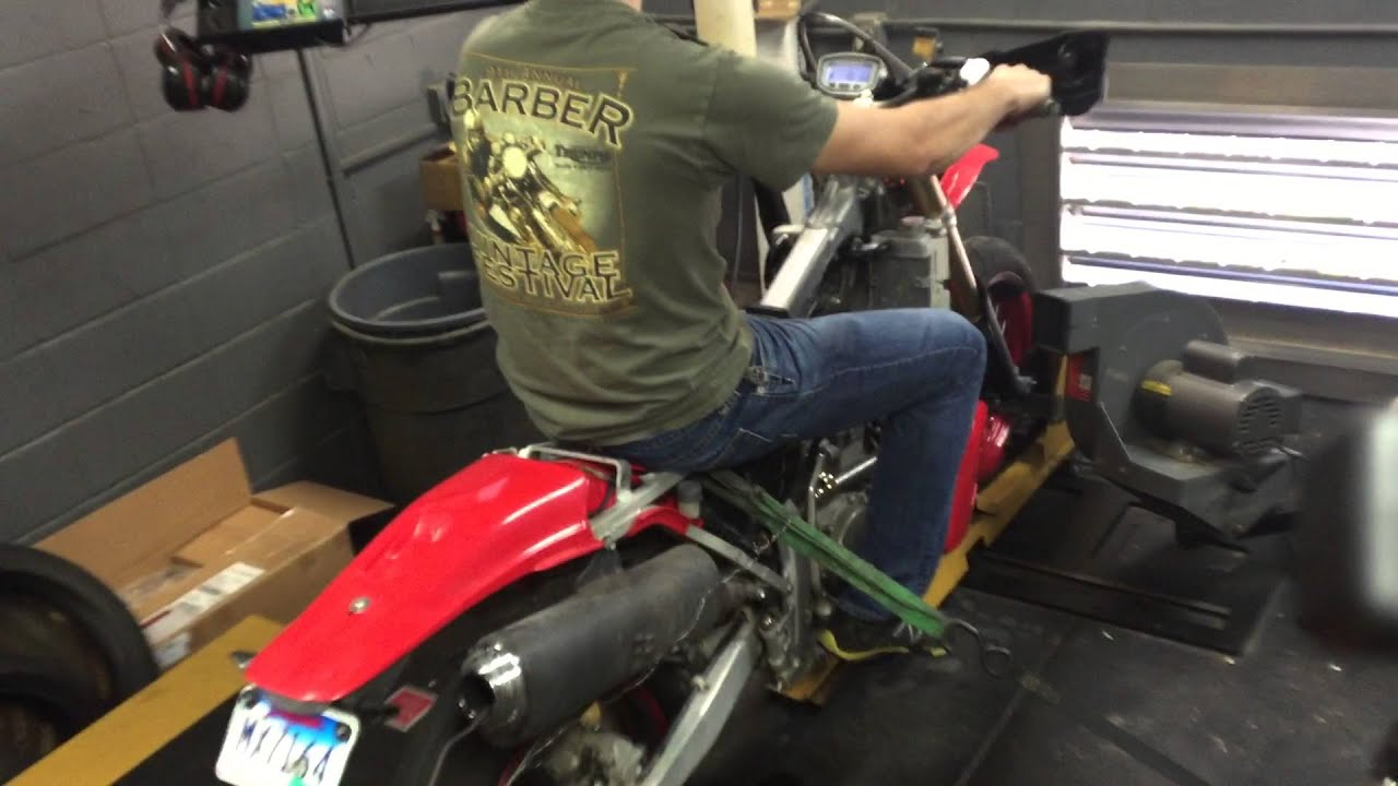 xr650r dyno with 40mm lectron - youtube