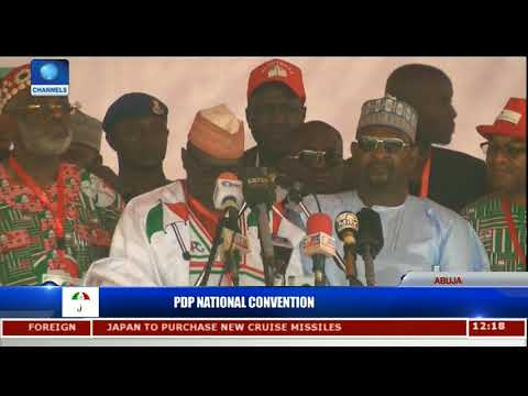 Outing-Going PDP Chairman Markafi Declares Nat'l Convention Open | PDP Nat'l Convention|