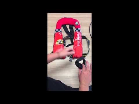 Attaching an external pouch to a Mullion 275N SOLAS PFD