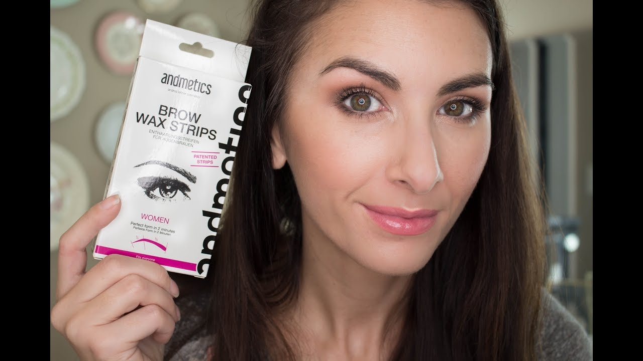 Brow Wax Strips Andmetics Review And Demo Youtube