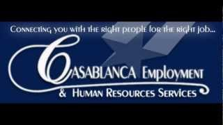 Casablanca Employment & Human Resources Services DFW Fort Worth HR agency(Casablanca Employment & Human Resources Services DFW Fort Worth HR agency http://casablancaemployment.com/, 2012-07-26T22:15:22.000Z)
