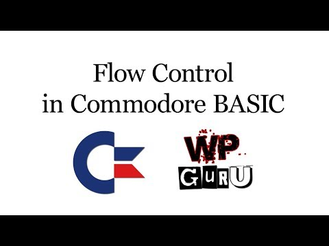 Flow Control in Commodore BASIC