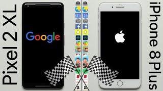 Google Pixel 2 XL vs. iPhone 8 Plus Speed Test