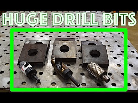 "Drill big holes in 1"" thick steel - Fastest way? - Iron - Metal - Aluminum - Large Drill Press"