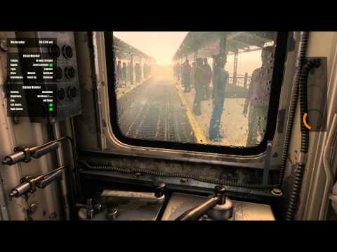 World Of Subways Vol. 4: Morning express service in foggy rain (HD)