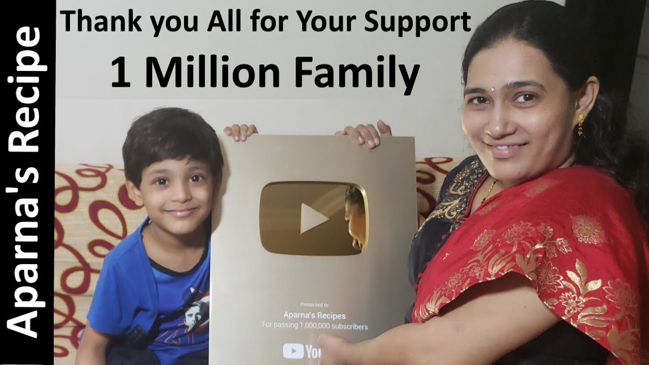 THANK YOU to help us reach 1 Million Subscribers | Unboxing Gold Play Button ~ Aparna's Recipe
