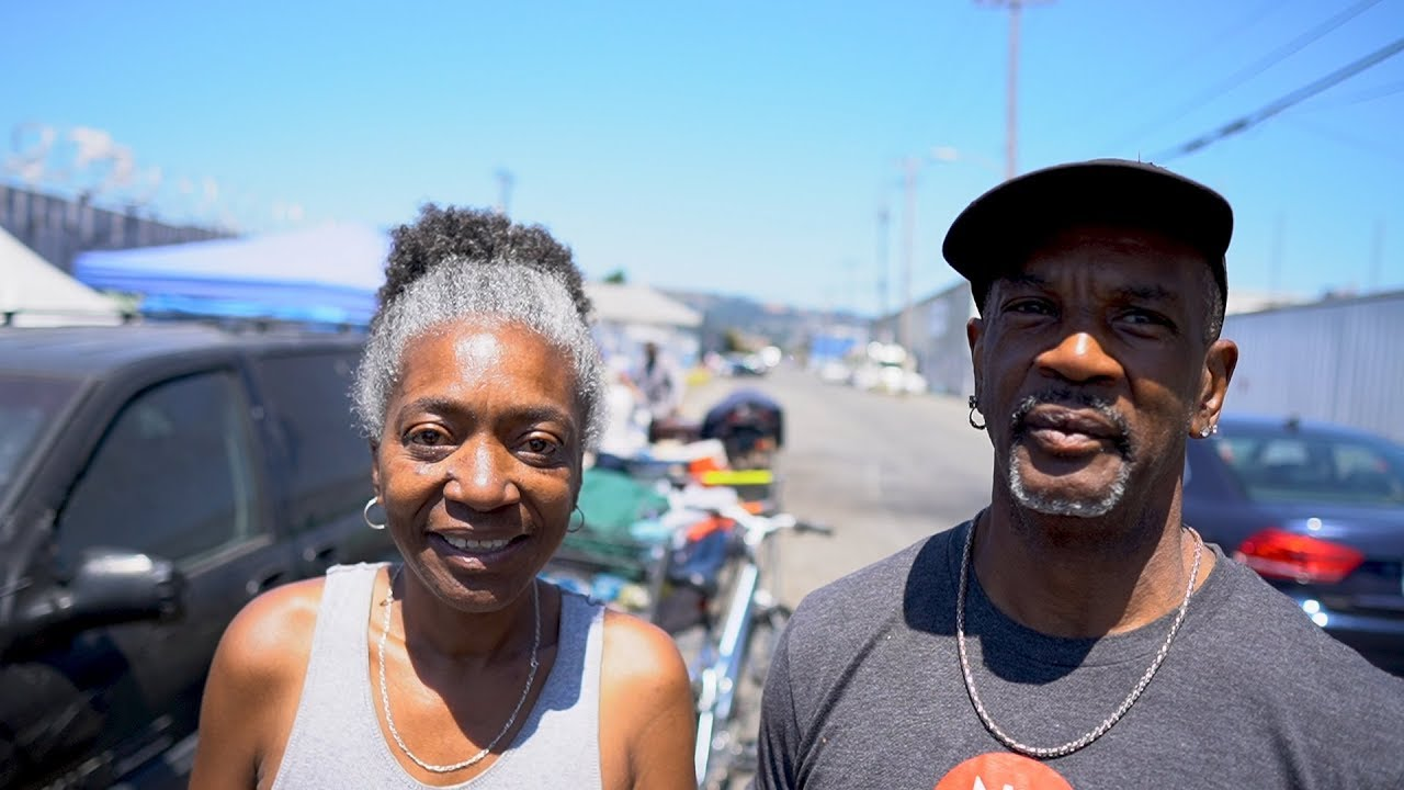 Homeless Couple Lives In Oakland Tent Community