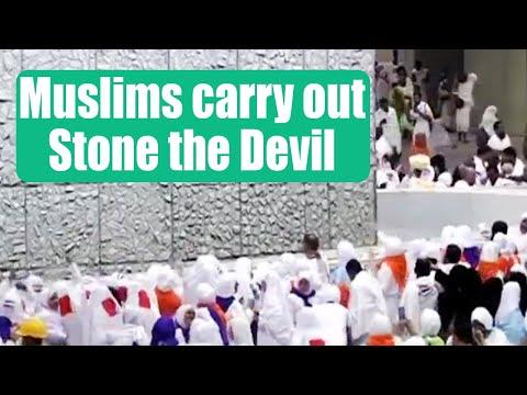 Muslim pilgrims take part in stone the devil ritual in hajj, celebrates Eid-al-Adha | Oneindia News