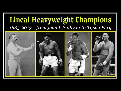 A Brief Chronology Of Lineal Heavyweight Champions