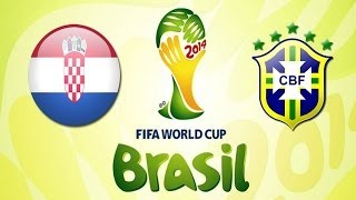 Brasil vs Croacia | Partido Inaugural World Cup 2014 | Fifa 14 PS4