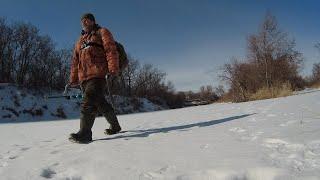 Рыбалка в марте на реке прогулка по речке 2021