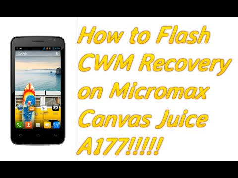 CWM Recovery For Micromax Canvas Juice A177(100% Working)