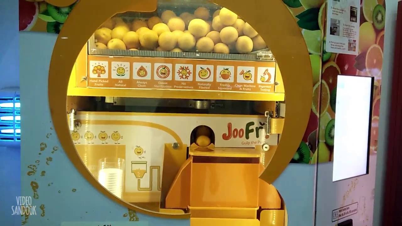 Incredible Fully Automatic Orange Juice Vending Machine Youtube